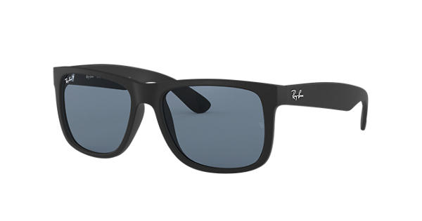 aa4a8a164b Ray-Ban Justin Classic RB4165 Black - Nylon - Blue Polarized Lenses -  0RB4165622 2V55