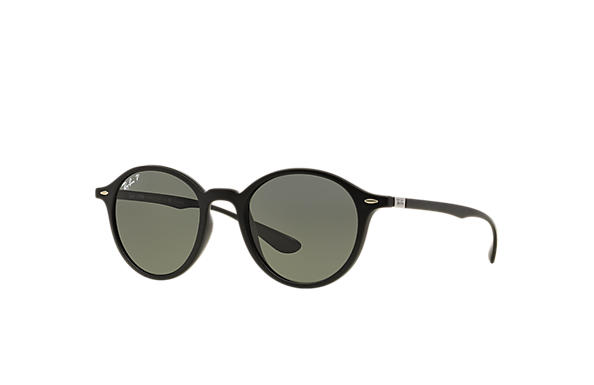 Ray-Ban Sunglasses ROUND LITEFORCE Black with Green Classic G-15 lens