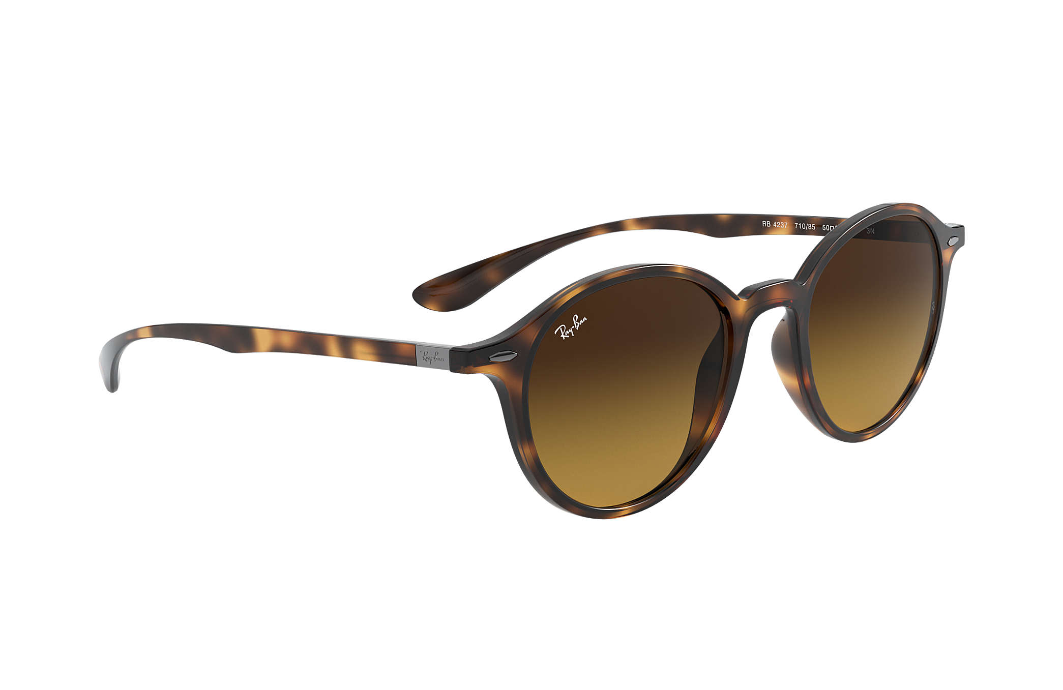 5e2bcdc0416aa Ray-Ban Round Liteforce RB4237 Tortoise - Liteforce - Brown Lenses ...