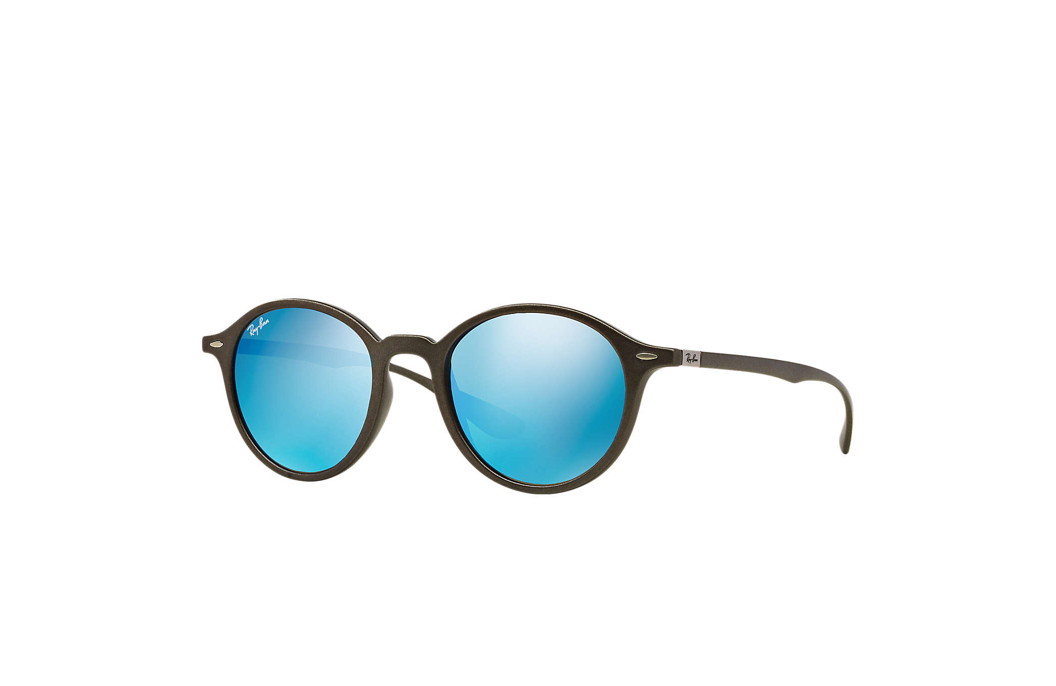 5b43f71b6c2 Ray-Ban Round Liteforce RB4237 Grey - Liteforce - Blue Lenses ...