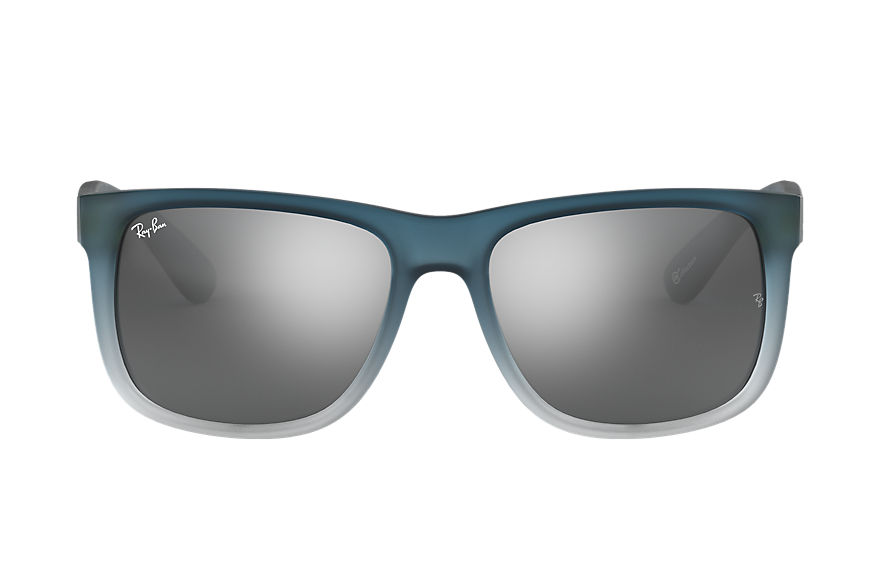 Ray-Ban JUSTIN @Collection Matte Blue with Silver Gradient Mirror lens