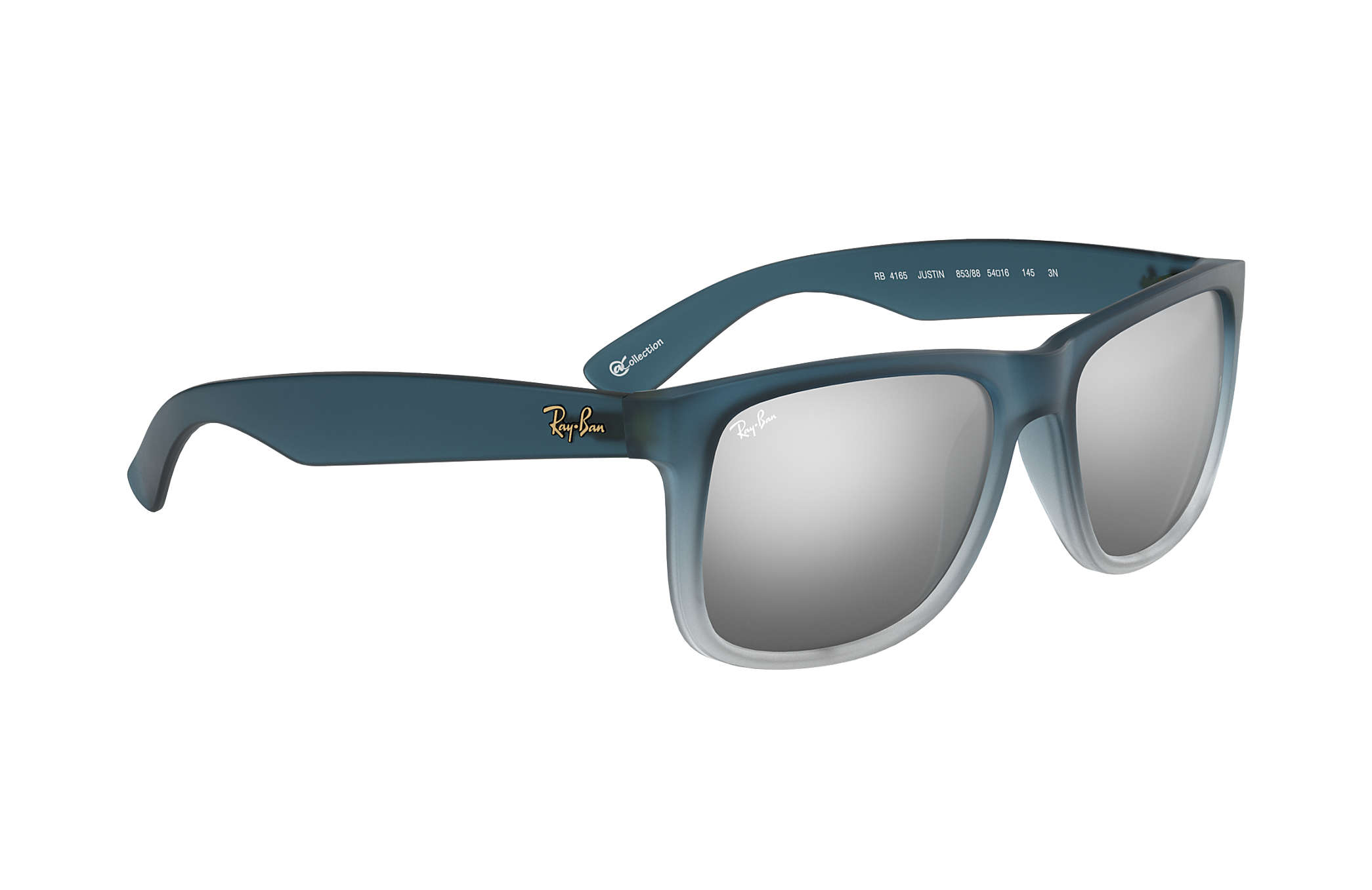 ray ban justin collection rb4165 azul nylon lentes plata rh ray ban com