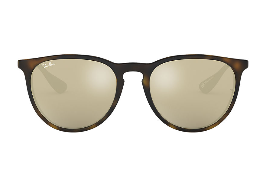 Ray-Ban ERIKA @Collection Havana mit Gold Verspiegelt Gläsern