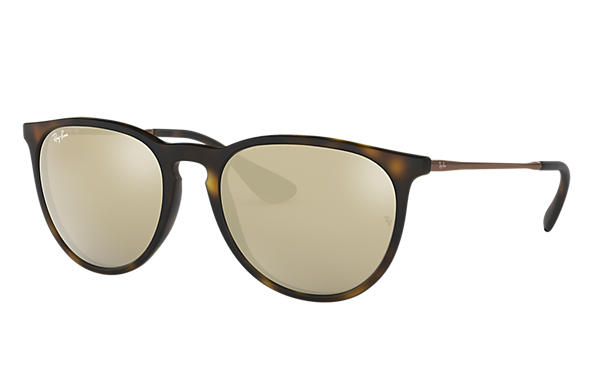 Ray-Ban Sunglasses Erika @Collection Tortoise with Gold Mirror lens