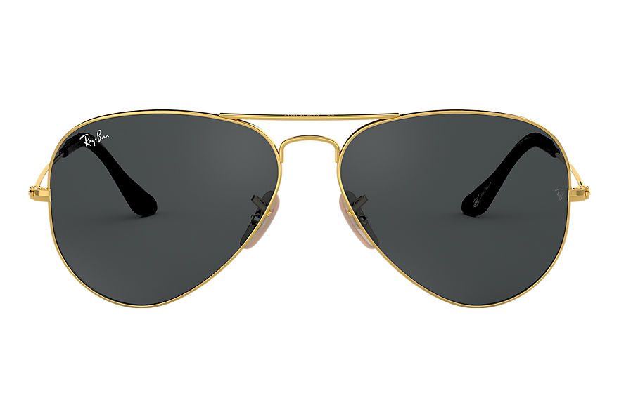 Ray-Ban AVIATOR @Collection Blank guld med Blå/grå Klassisk lins