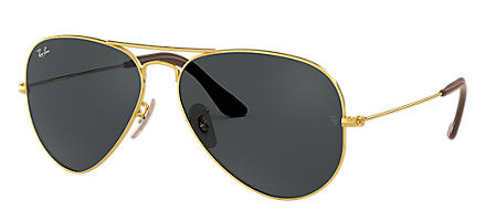 d2d7ddda1ff Ray-Ban Aviator  Collection Gold with Blue Gray Classic lens