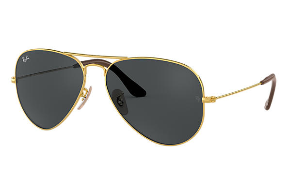 597ff2f32fac Ray-Ban Aviator  collection RB3025 Gold - Metal - Blue Gray Lenses ...