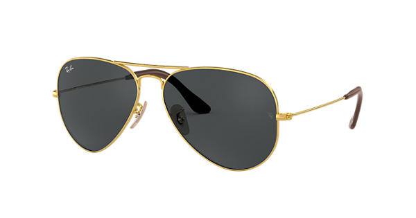 14537bc58423f8 Aviator  collection Ray-Ban RB3025 Or - Métal - Verres BleuGris -  0RB3025183 R558   Ray-Ban® France