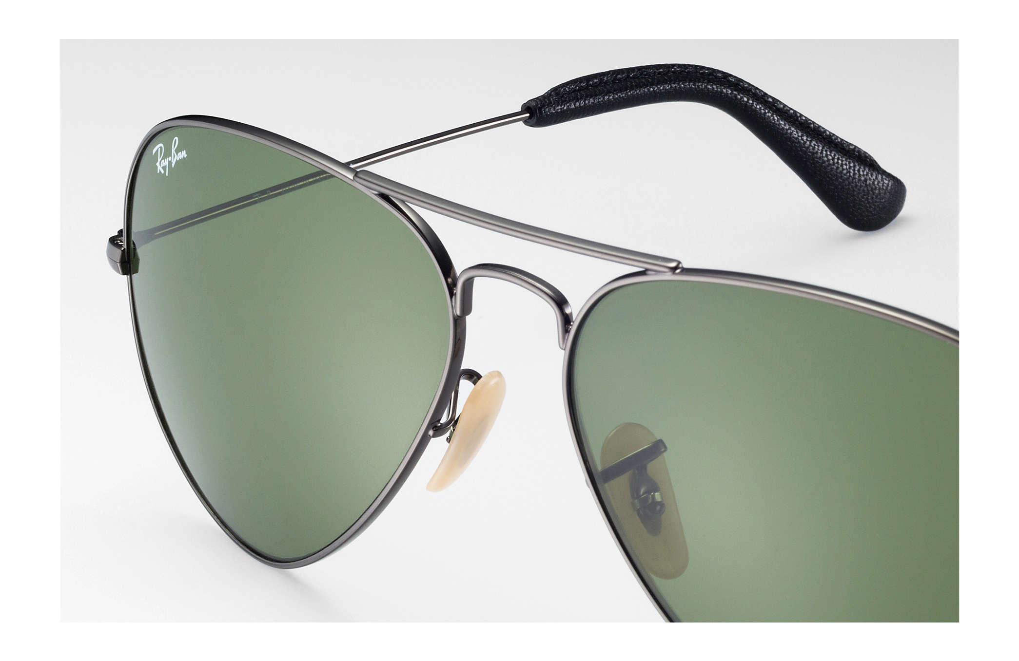 21e76da5e4 Ray-Ban Aviator  collection RB3025 Gunmetal - Metal - Green Lenses ...