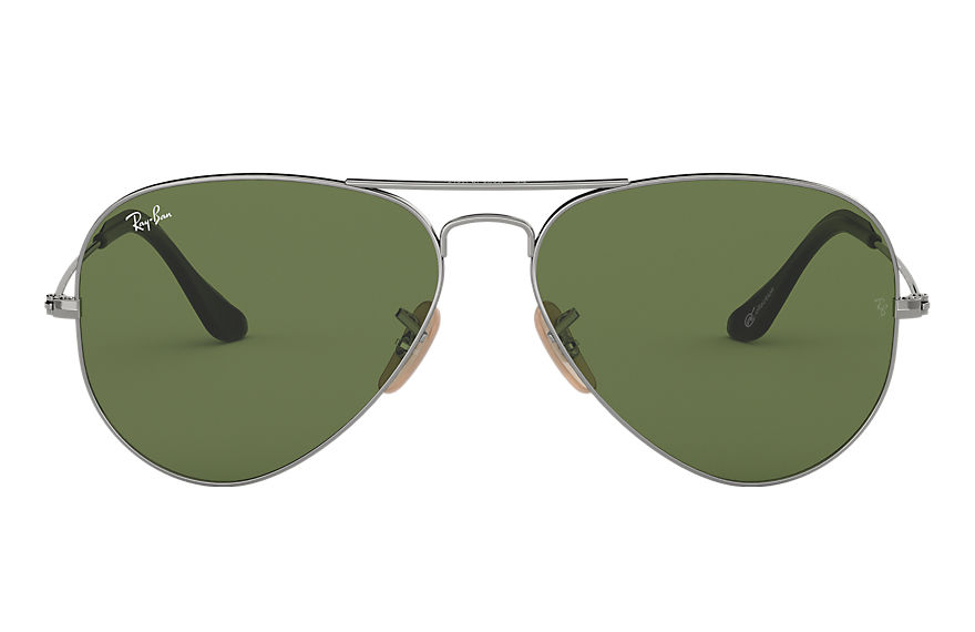 Ray-Ban AVIATOR @Collection Gunmetal with Green Classic lens