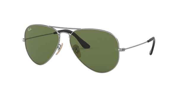 8dc357c00c355 Ray-Ban Aviator  collection RB3025 Chumbo - Metal - Lentes Verde -  0RB3025184 4E55   Ray-Ban® Brasil