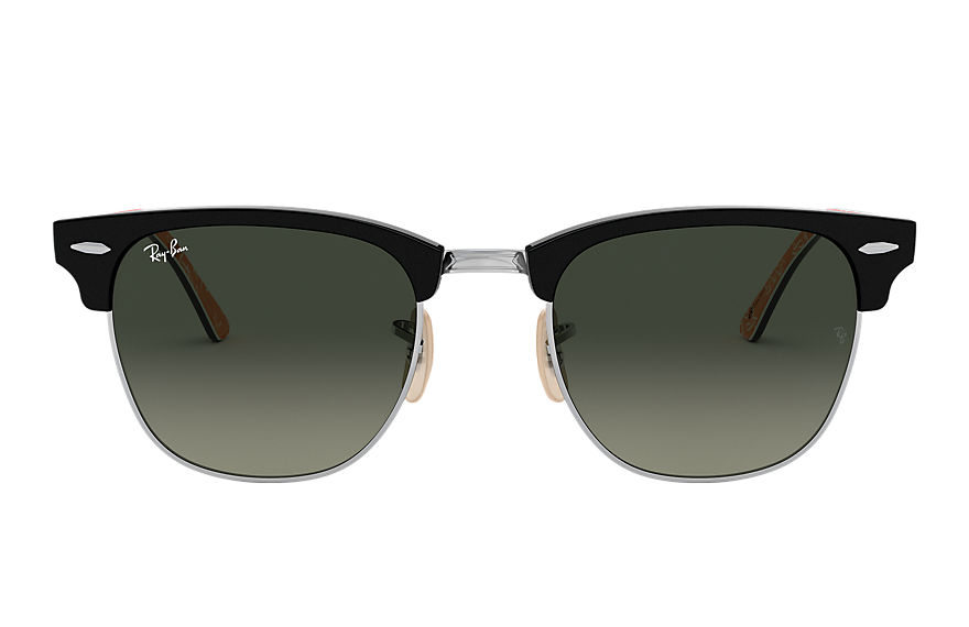 Ray-Ban Sunglasses Clubmaster @Collection Polished Black with Grey Gradient lens