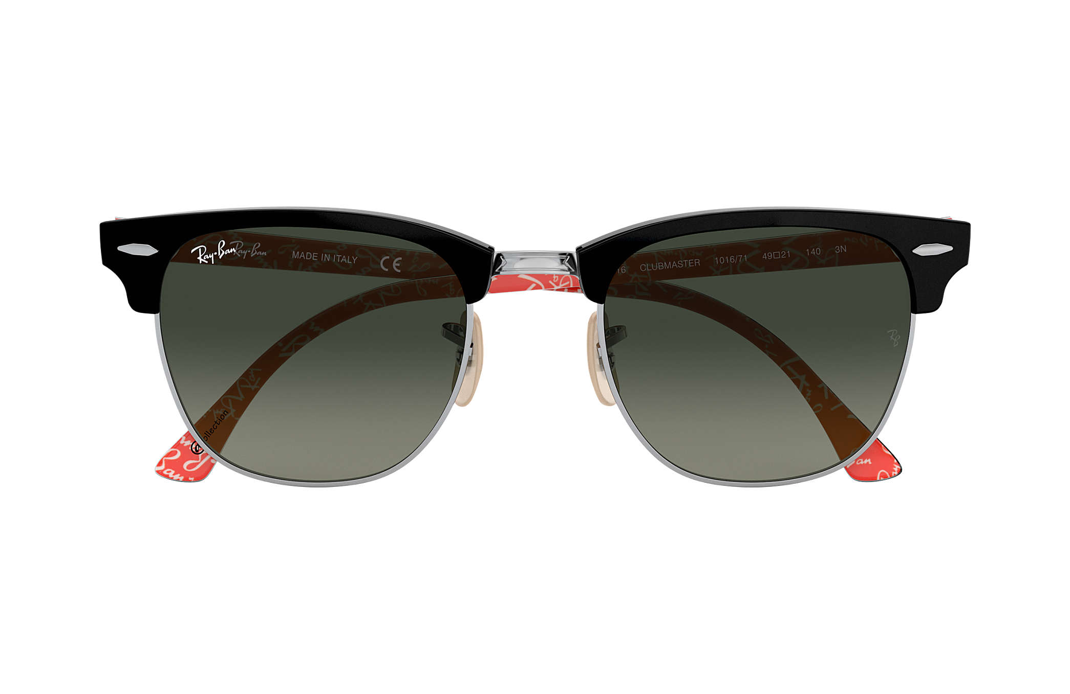 Clubmaster  collection Ray-Ban RB3016 Noir - Acétate - Verres Gris ... 314f9ba65a1a