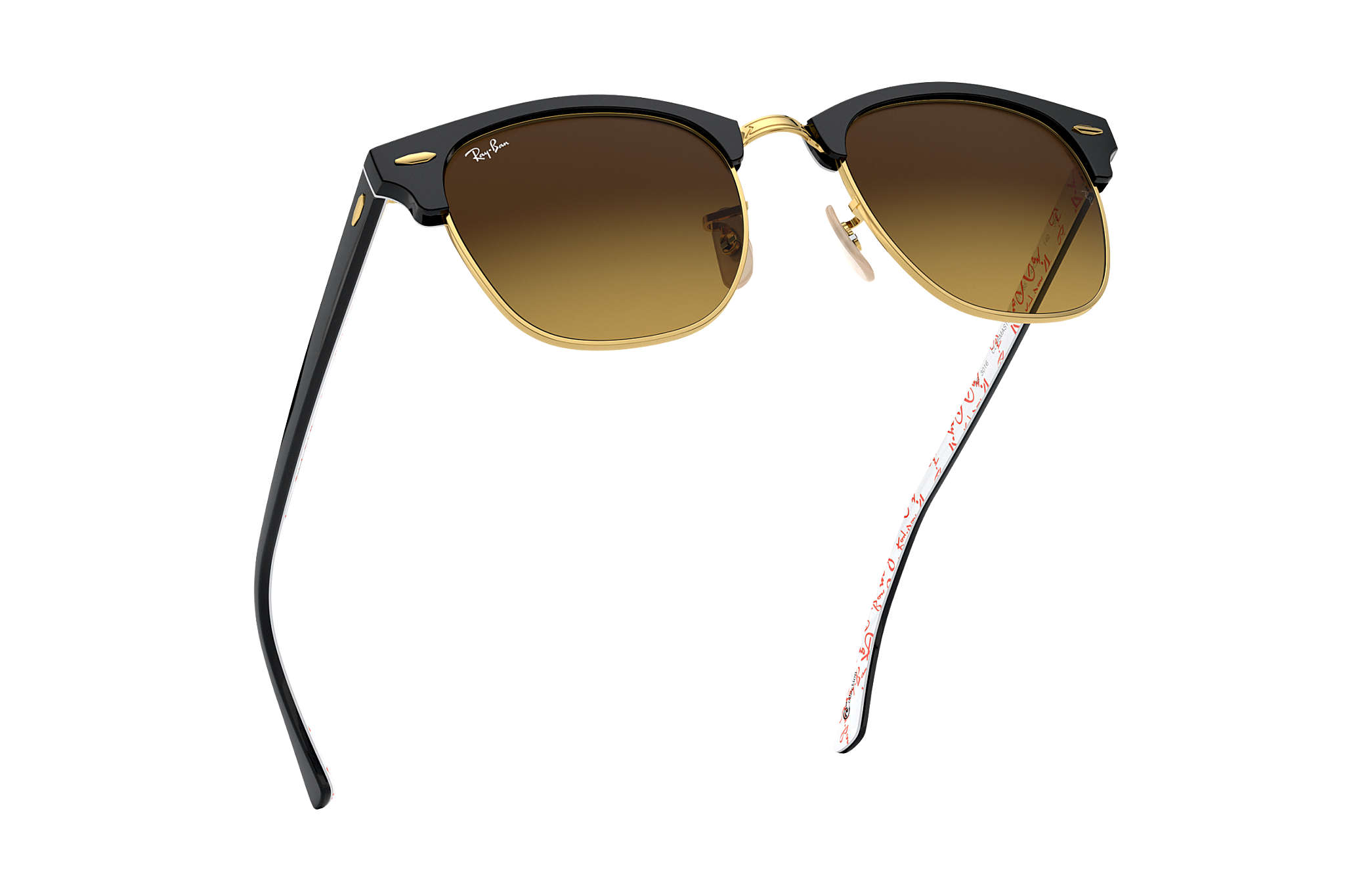 da74b51548 Ray-Ban Clubmaster  collection RB3016 Black - Acetate - Brown Lenses ...