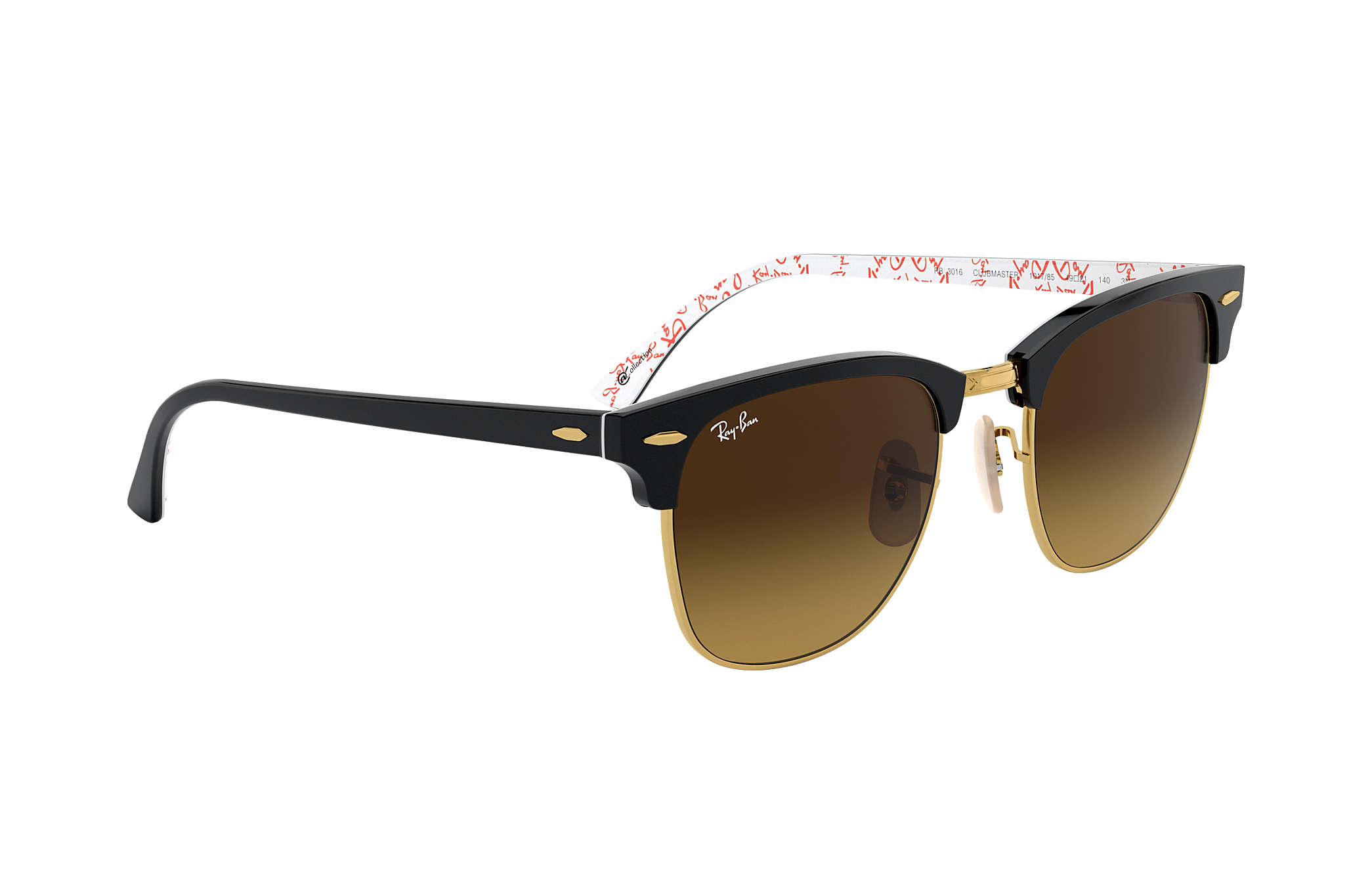 9eb3c29eab promo code for ray ban clubmaster rb3016 w0365 black green g15 unisex  sunglasses black gold d1aba 6533f  sale ray ban 0rb3016 clubmaster  collection black ...