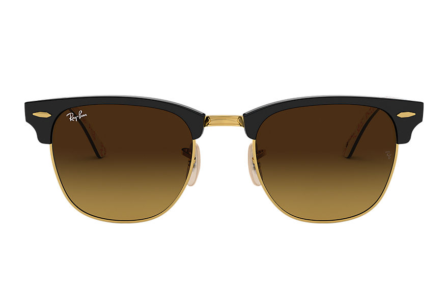 Ray-Ban Sunglasses Clubmaster @Collection Black with Brown Gradient lens