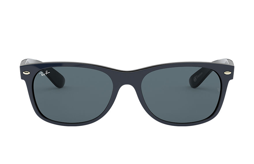 Ray-Ban NEW WAYFARER @Collection Matt blå med Blå/grå Klassisk lins