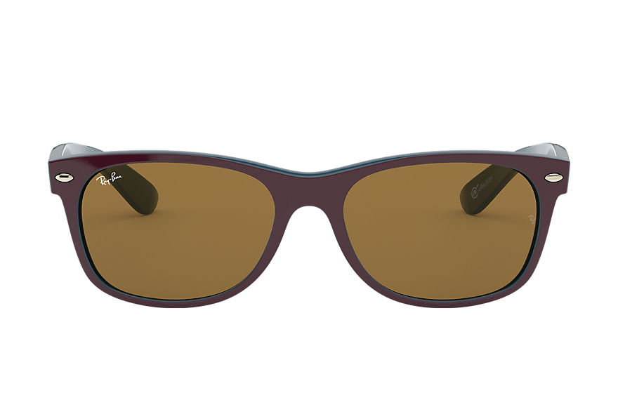 Ray-Ban NEW WAYFARER @Collection Fioletowy with Brązowy Classic B-15 lens