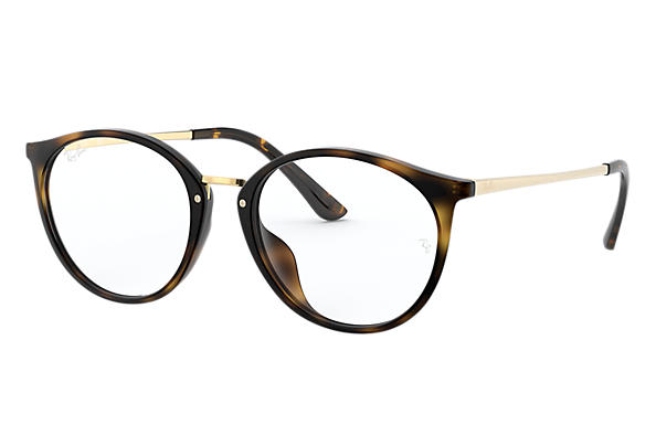 Ray-Ban 0RX7083D-RB7083D Tortoise; Gold OPTICAL