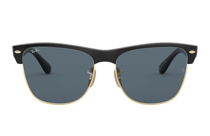 Ray-Ban Sunglasses CLUBMASTER OVERSIZED @Collection Black with Blue/Gray Classic lens