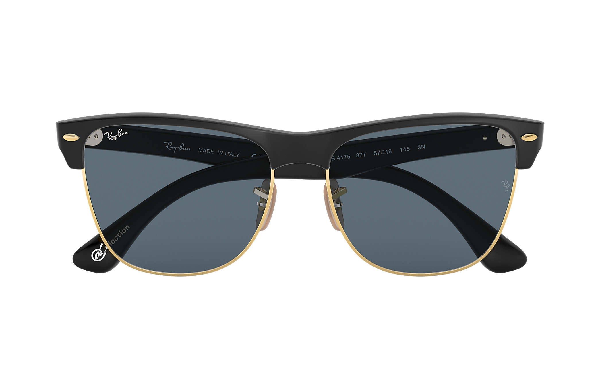 e7558a56fc9 Ray-Ban Clubmaster Oversized  collection RB4175 Black - Nylon - Blue ...