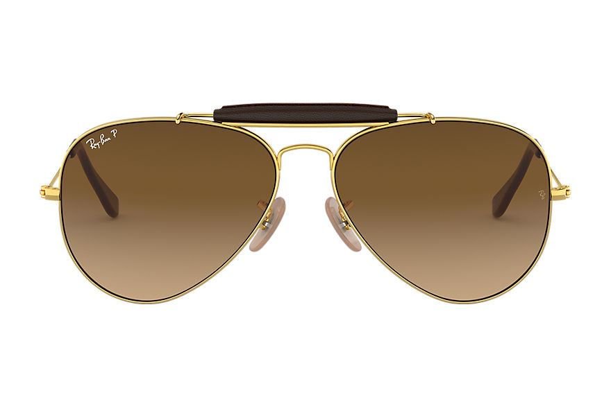 Ray-Ban Gafas-de-sol OUTDOORSMAN @Collection Oro con lente Marrón Degradada