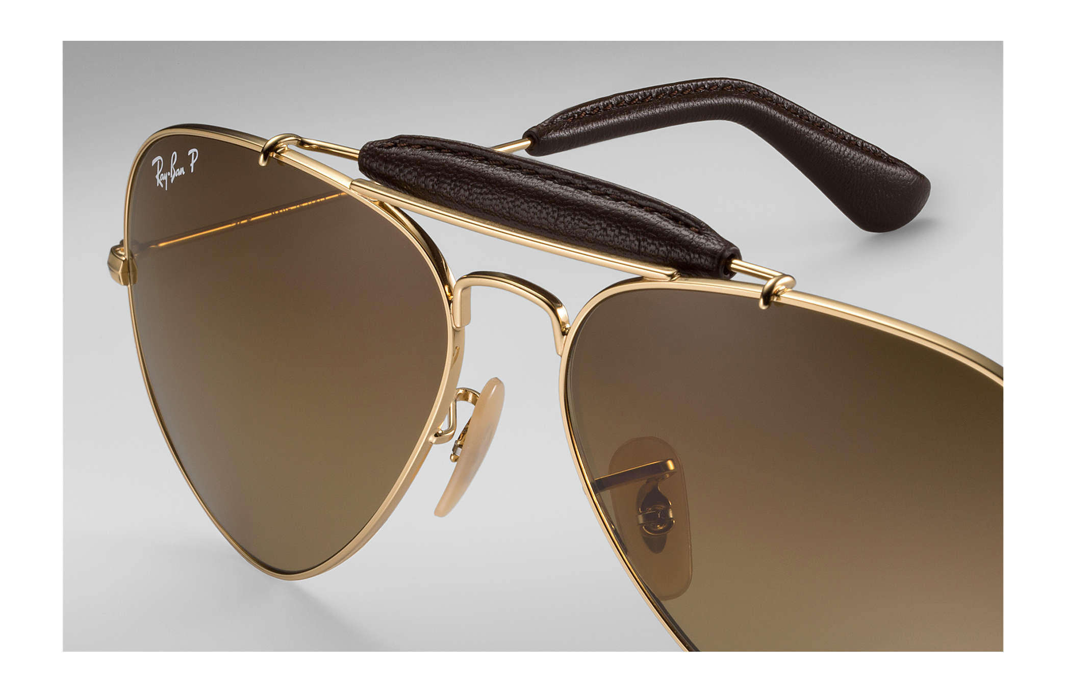 4f8ea9df6 Ray-Ban Outdoorsman Craft @collection RB3422Q Gold - Metal - Brown ...