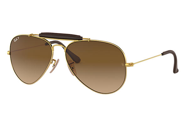 Ray-Ban 0RB3422Q-OUTDOORSMAN CRAFT Collection Gold SUN