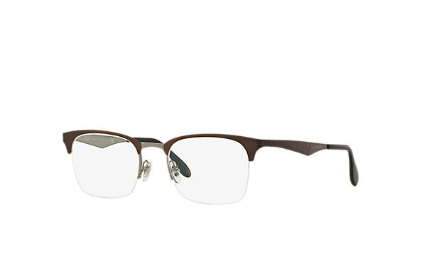 Ray-Ban 0RX6360-RB6360 Brown,Gunmetal OPTICAL