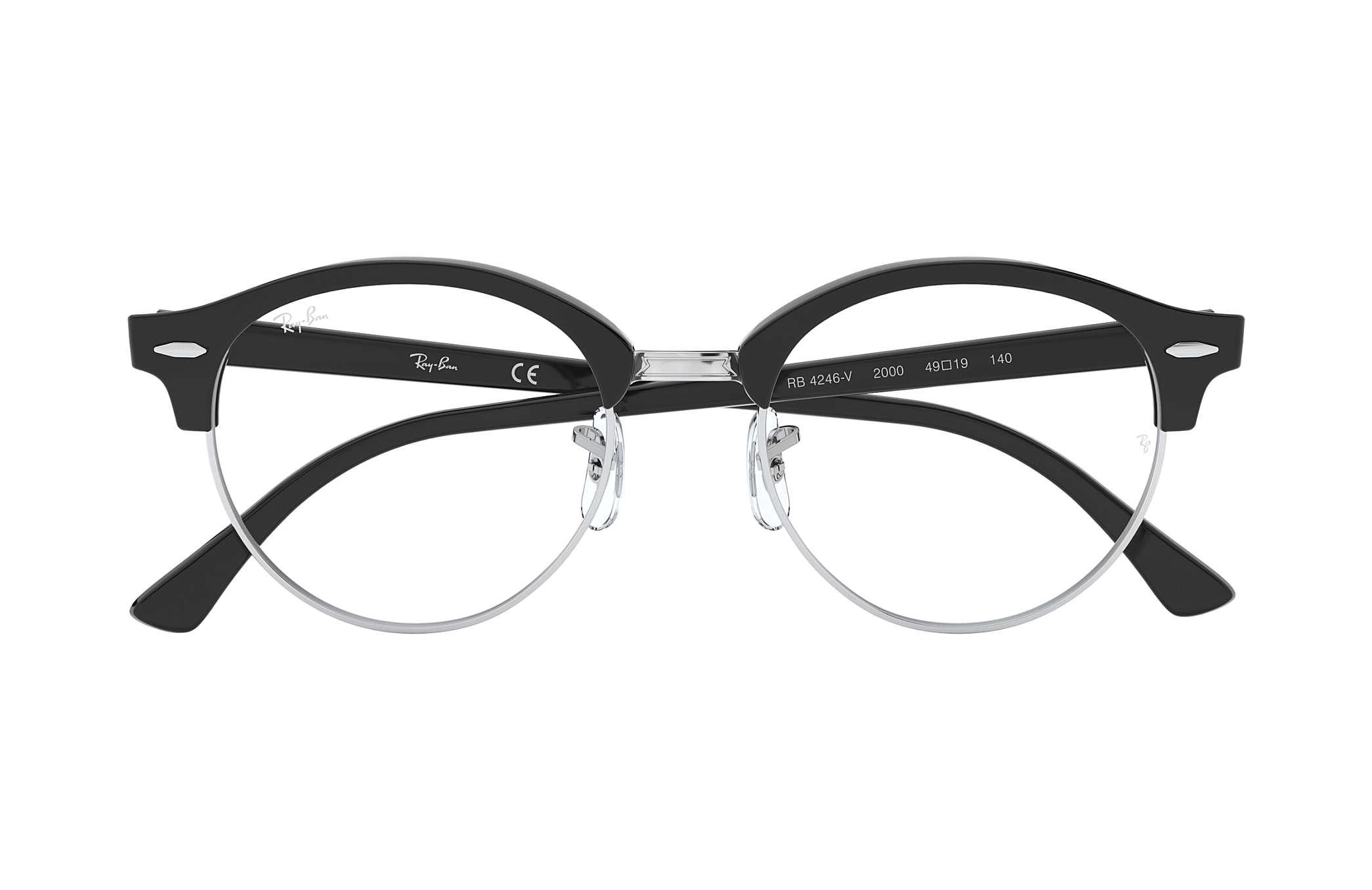 6b33248fa01ef Óculos de grau Ray-Ban Clubround Optics RB4246V Preto - Acetato ...