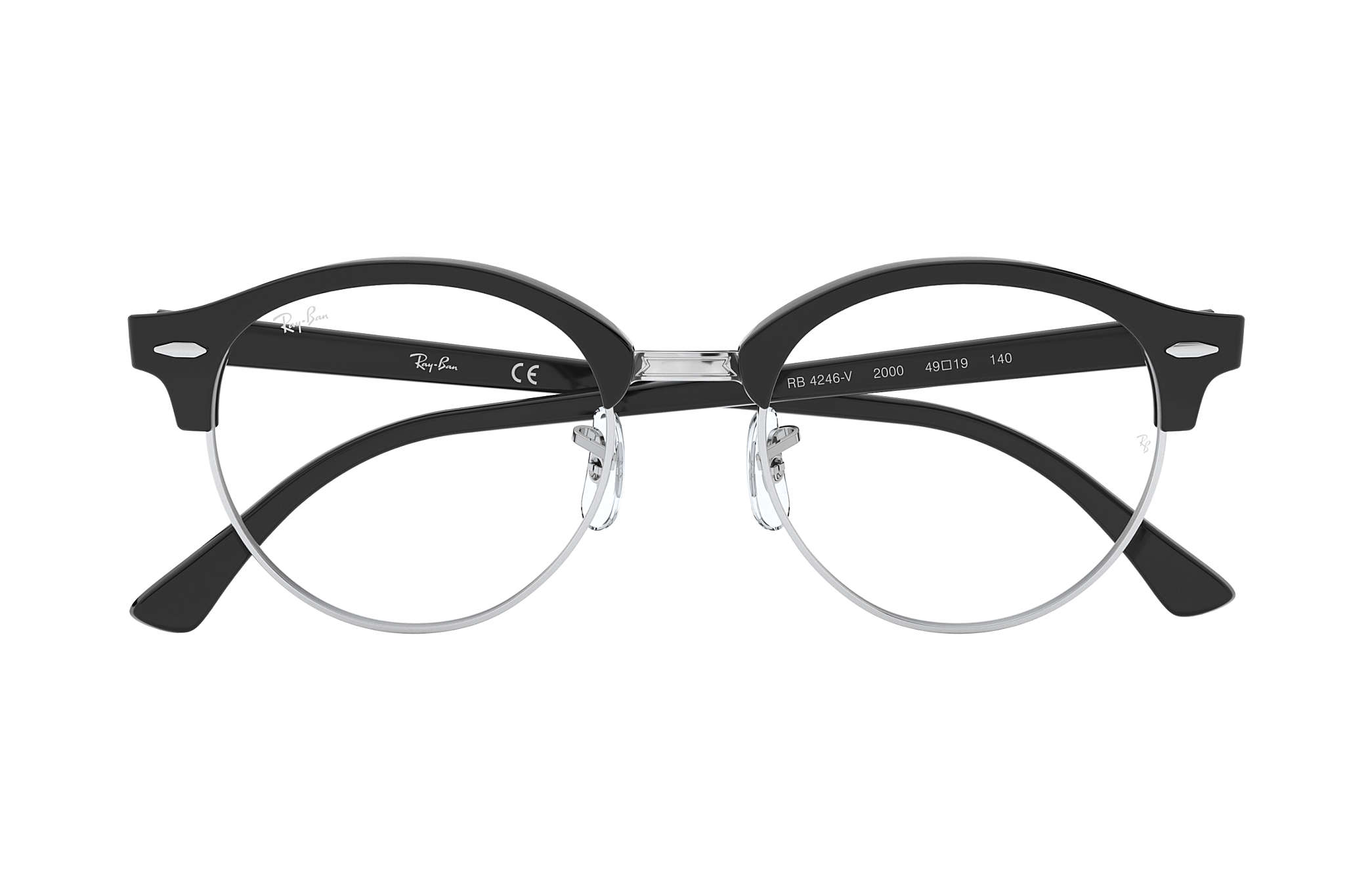 Ray-Ban prescription glasses Clubround Optics RB4246V Black ...
