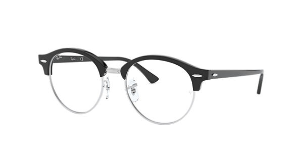 59bf791a7f Ray-Ban prescription glasses Clubround Optics RB4246V Black - Acetate -  0RX4246V200049