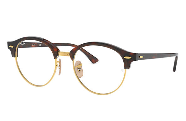 Ray-Ban 0RX4246V-CLUBROUND OPTICS Tortoise,Gold; Tortoise OPTICAL
