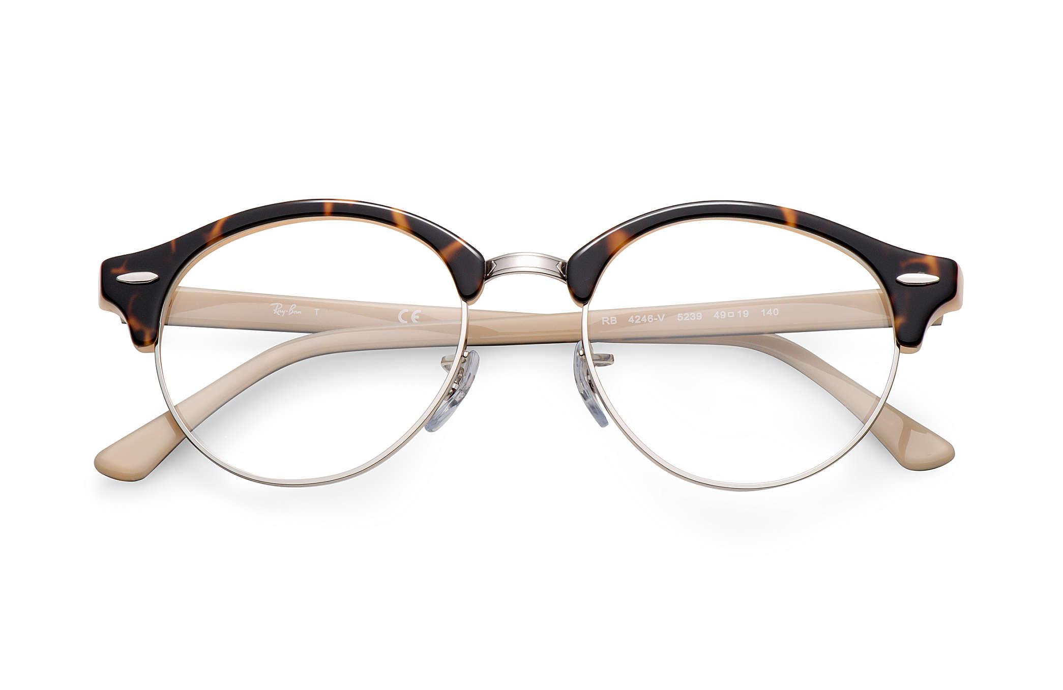 0b0e0d59d9 Ray-Ban eyeglasses Clubround Optics RB4246V Tortoise - Acetate ...