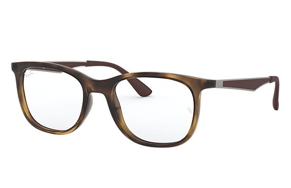 Ray-Ban 0RX7078-RB7078 Tortoise; Gunmetal,Brown OPTICAL