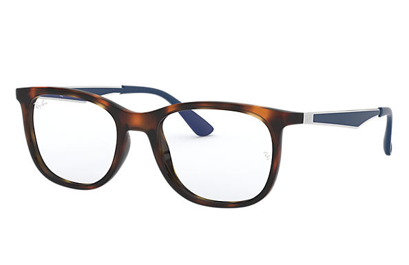 Ray-Ban 0RX7078-RB7078 Tortoise; Silver,Blue OPTICAL