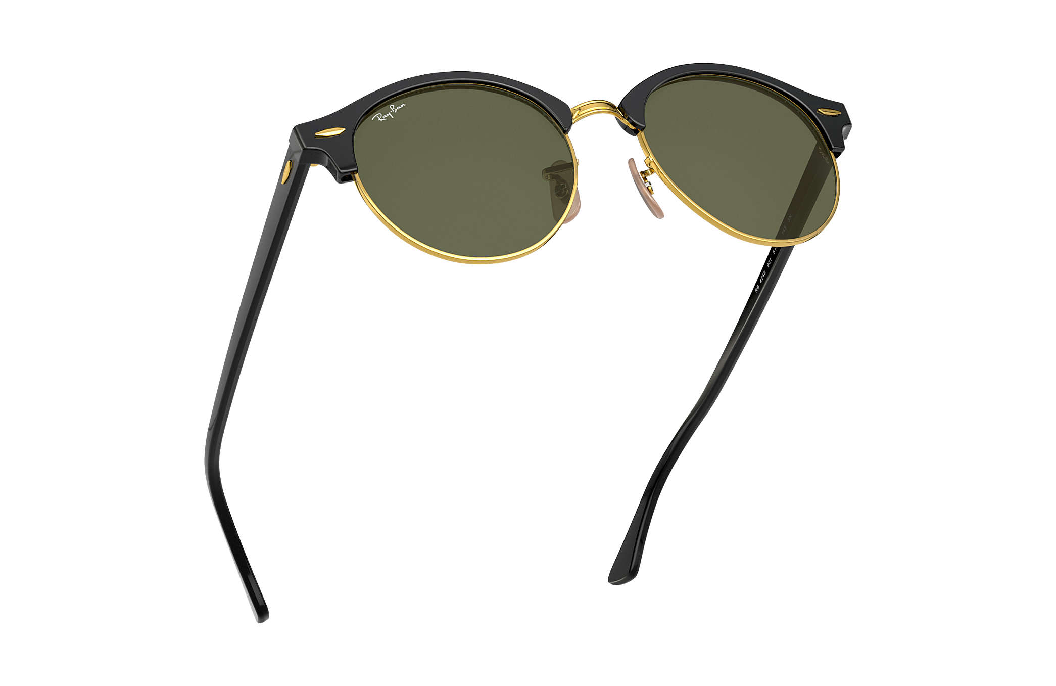 3311806658040 Ray-Ban Clubround Classic RB4246 Black - Acetate - Green Lenses ...