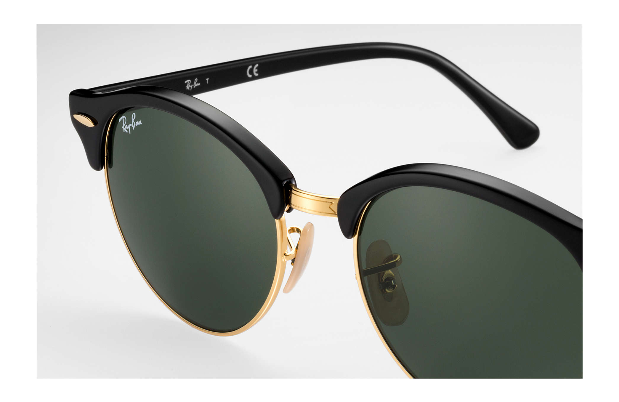 Ray-Ban Clubround RB4246 901 51-19 in shiny black 2x73zr9UO