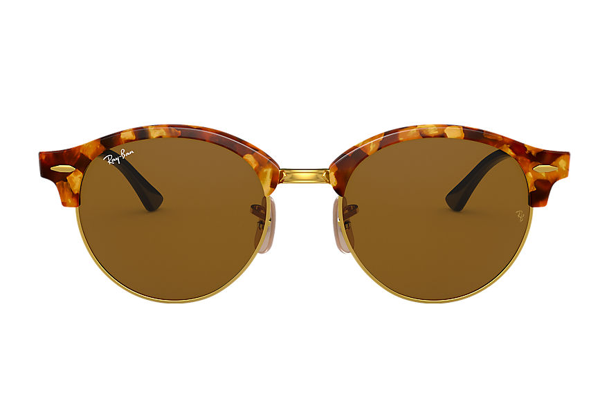 Ray-Ban Sunglasses CLUBROUND CLASSIC Tortoise with Brown Classic B-15 lens