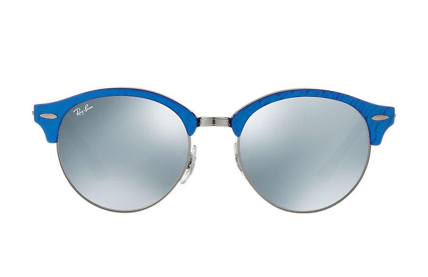 Ray-Ban Sunglasses CLUBROUND FLASH LENSES Blue with Silver Flash lens