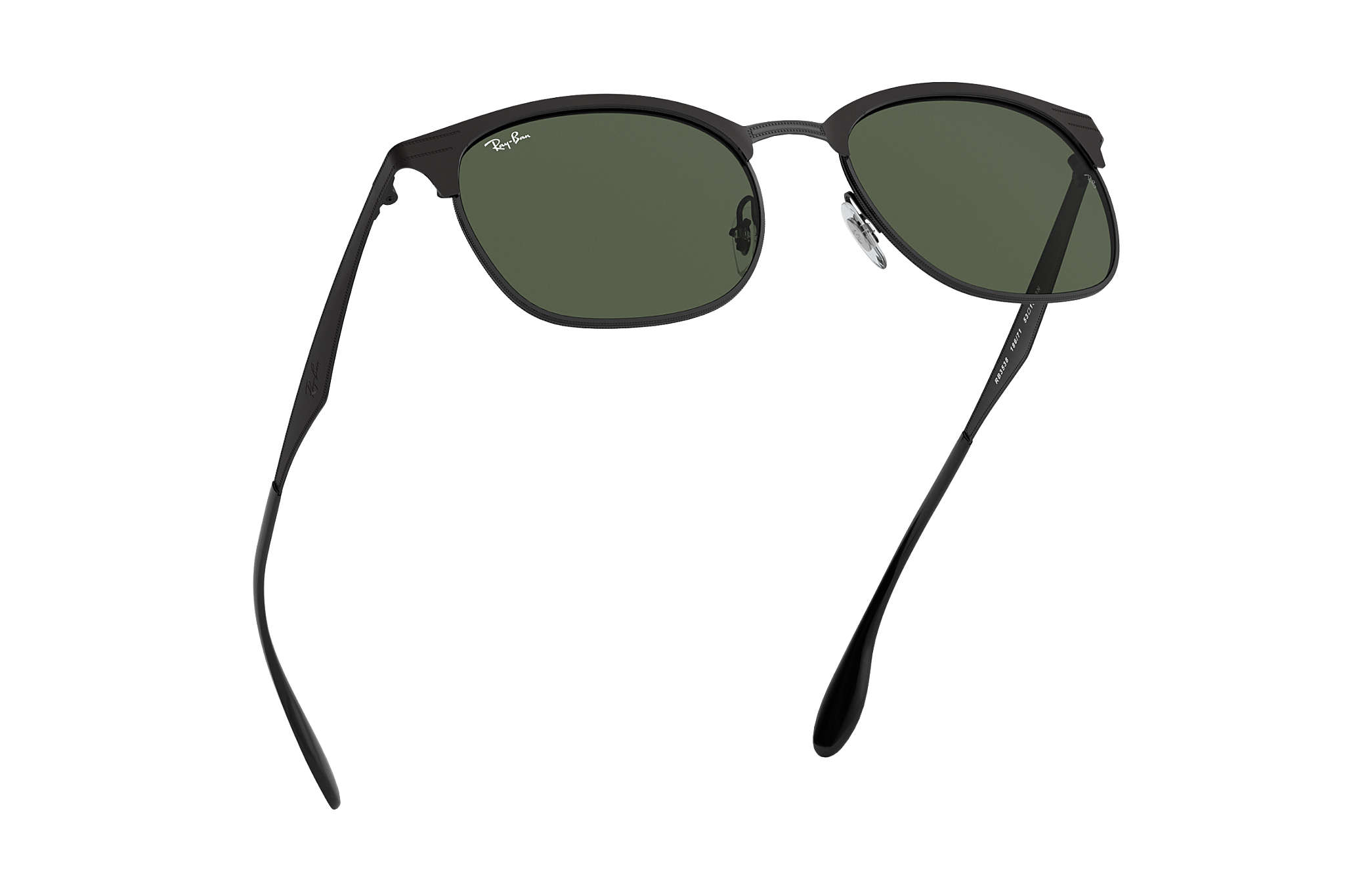 6d42a2971 Ray-Ban RB3538 Black - Metal - Green Lenses - 0RB3538186/7153 | Ray ...