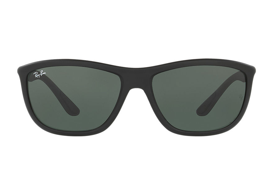 Ray-Ban RB8351 Black with Green Classic lens