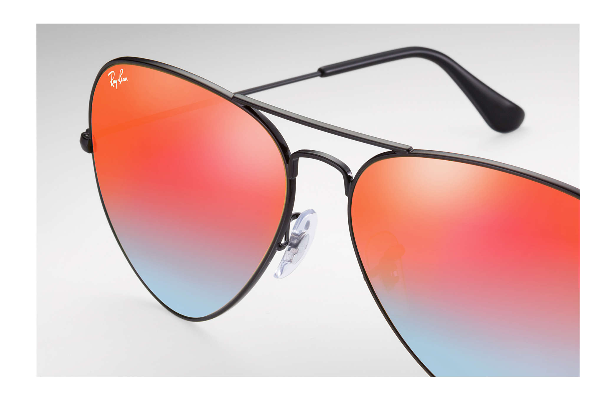 ray ban aviator grün flash