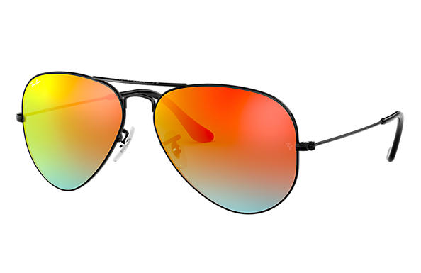 Ray-Ban 0RB3025-AVIATOR FLASH LENSES GRADIENT 黑色 SUN