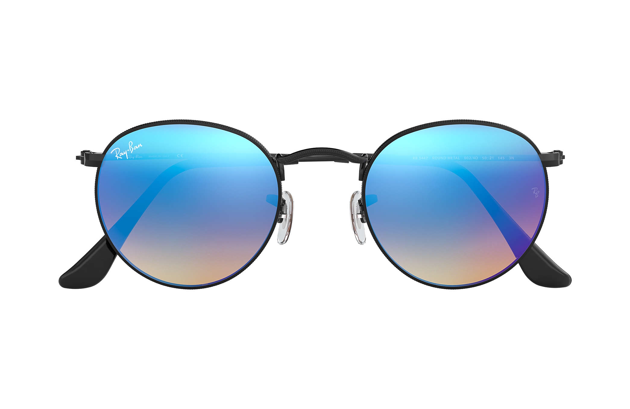 Ray-Ban Round Flash Lenses Gradient Black, RB3447 | Ray-Ban® USA