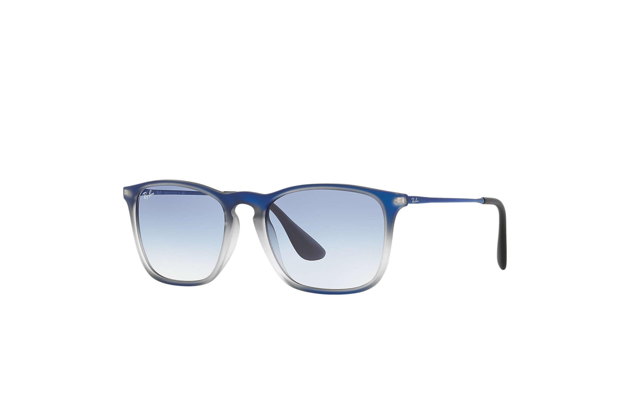 17c47da0662ad Ray-Ban Chris RB4187 Blue - Nylon - Light Blue Lenses ...