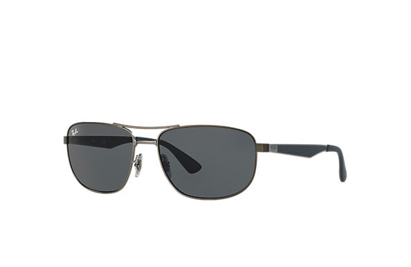 4fc42473b4 Ray-Ban RB3528 Gunmetal - Metal - Grey Lenses - 0RB3528029 8761 ...