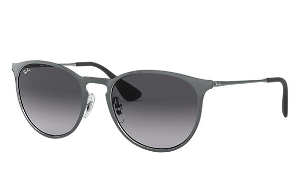 Ray-Ban Sunglasses ERIKA METAL Grey with Grey Gradient lens