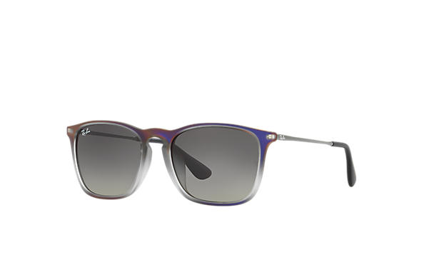Ray-Ban 0RB4187F-CHRIS Violet,Grey; Gunmetal SUN