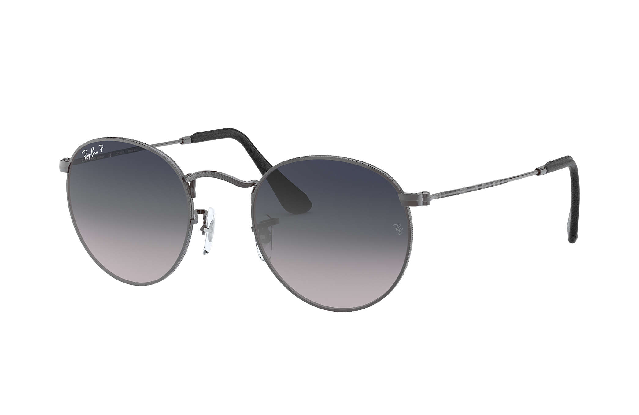 ray ban round metal collection rb3447 gunmetal metal blue grey rh ray ban com
